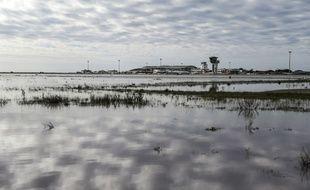 L'aéroport d'Ajaccio inondé par les eaux, le 21 décembre 2019.