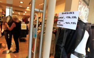 NANTES, le 14/10/2013 Illustration d'un magasin de vêtements.