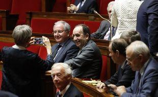Jean-Michel Clément (à g.), à l'époque député PS, à l'Assemblée nationale le 22 février 2017.