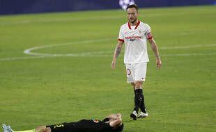 Ivan Rakitic debout. Shapi Suleymanov allongé. Le FC Séville a effectué une remontada mercredi soir pour battre Krasnodar en Ligue des champions.