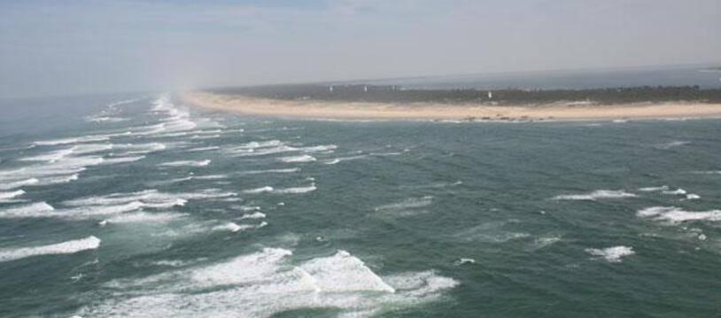 Vue de l'Océan Atlantique, au niveau du Cap-Ferret