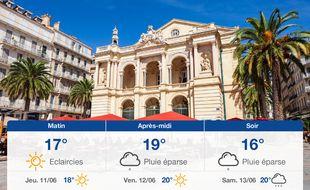 Météo Toulon: Prévisions du mercredi 10 juin 2020