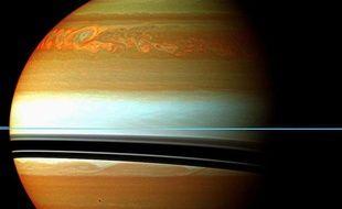 Les images de la sonde Cassini de la tempête géante dans l'hémisphère nord de Saturne