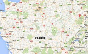 Le secteur de Gerbépal, dans les Vosges, a été touché par une mini-tornade, le 13 mai 2015.