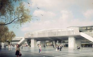 Vue de la future station de métro Cesson ViaSilva, qui sera le terminus de la ligne B.