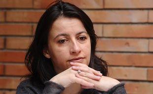 Cécile Duflot en conférence de presse à Toulouse, le 25 février 2011