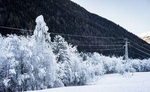 A Seez (Savoie), le 18 décembre 2016, en aval de Tignes et Val-d'Isère.