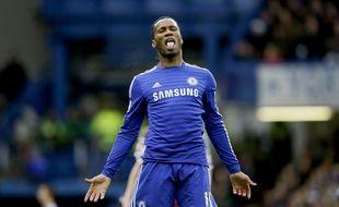 Didier Drogba avec Chelsea en 2014