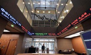 La Bourse d'Athènes, le 8 décembre 2014