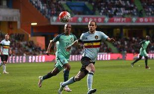 Gillet sous le maillot blge en mars dernier au Portugal.