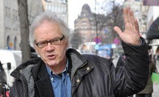 Le dessinateur suédois Lars Vilks dans les rues de Stockholm, le 11 mars 2010.