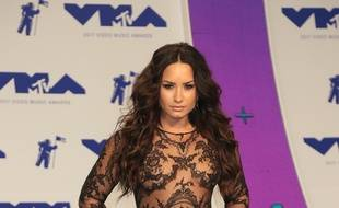La chanteuse Demi Lovato aux MTV Video Music Awards 2017.