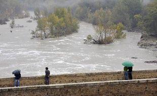 L'Hérault en crue le 4 novembre 2011 à Saint-Jean de Fos