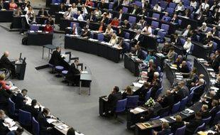 Le ministre allemand des Finances, Wolfgang Schaüble, fait un discours devant le Bundestag, le 17 juillet 2015 à Berlin
