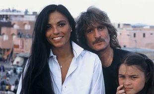 Christophe, sa femme Véronique et leur fille à Marrakech, dans les années 80