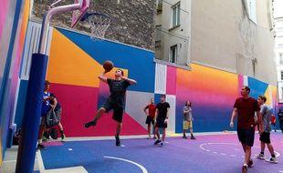 Le playground Duperré, dans le IXe.
