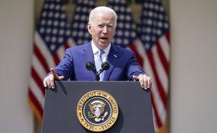 Le président américain Joe Biden dévoile des mesures pour lutter contre la violence des armes à feu le 8 avril 2021 à la Maison Blanche.
