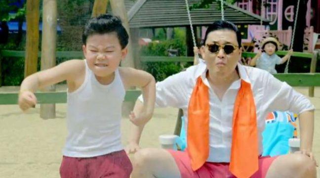 Une image du clip du titre Gangnam Style de PSY. – DR