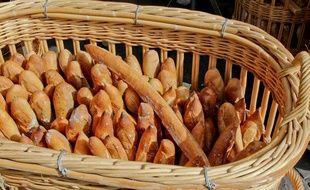 Des baguettes de pain. Illustration.