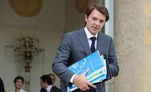 Le ministre du budget François Baroin à la sortie du conseil des ministres du 29 septembre 2010