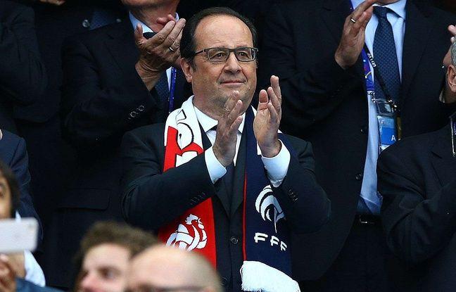 François Hollande pendant France-Roumanie au Stade de France, le 10 juin 2016.