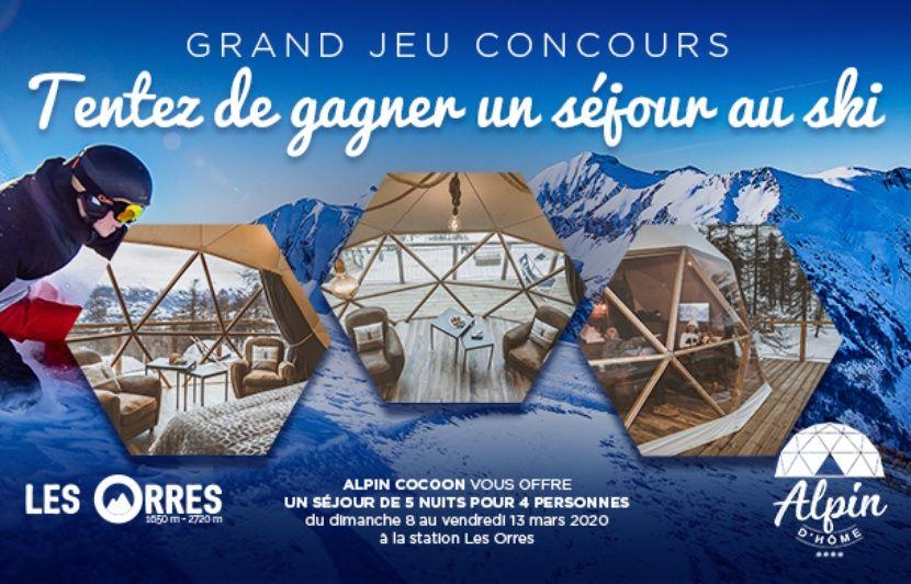 Participez à notre jeu concours et tentez de remporter un séjour pour 4 personnes au ski