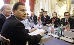 François Fillon a réuni ses ministres pour un séminaire gouvernemental sur l'identité nationale, le 8 février 2010, à Matignon.