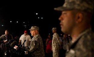Le général Mark Milley durant une conférence de presse sur la base militaire de Fort Hood, le 2 avril 2014