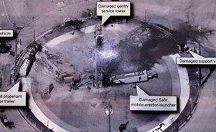 Le président des États-Unis Donald Trump a diffusé une photo satellite du site de lancement d'une fusée iranienne sur son compte Twitter.