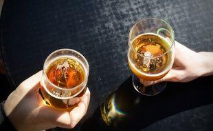 Illustration bières dabns un bar. 15/03/2012 Toulouse