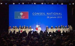 Le Conseil national de l'UMP, à Paris, le 28 janvier 2012.