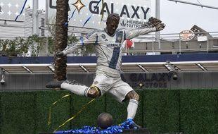 La statue de David Beckham devant le stade du LA Galaxy, à Los Angeles.
