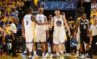 Les Warriors lors des finales NBA