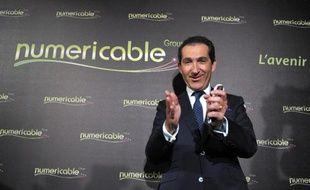 L'homme d'affaires français Patrick Drahi à Paris le 17 mars 2014