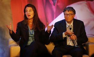 Bill et Melinda Gates à New Delhi en Inde, le 18 septembre 2014.