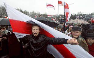 Le journaliste d'opposition biélorusse Roman Protassevitch, lors d'une manifestation en 2012.