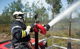 Illustration d'une intervention des pompiers en lutte contre un feu de forêt -  Photo : Sebastien Ortola