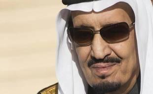 Le roi Salmane, nouveau monarque d'Arabie saoudite, le 27 janvier 2015 à Ryad