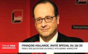 François Hollande est l'invité du «Téléphone Sonne» sur France Inter, le 19 février 2016.