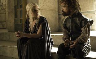 Daenerys Targaryen (Emilia Clarke) et Peter Dinklage (Tyrion Lannister) dans la saison 6 de «Game of Thrones».