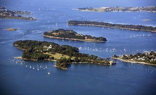 L'île Berder, au premier plan, a été acquise par le groupe immobilier Giboire.