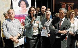 Anne-Yvonne Le Dain (ici avec J.-P. Moure et P. Saurel) espère «peser sur certains dossiers».