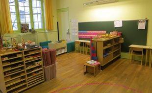 Une classe de maternelle à Paris en 2018.
