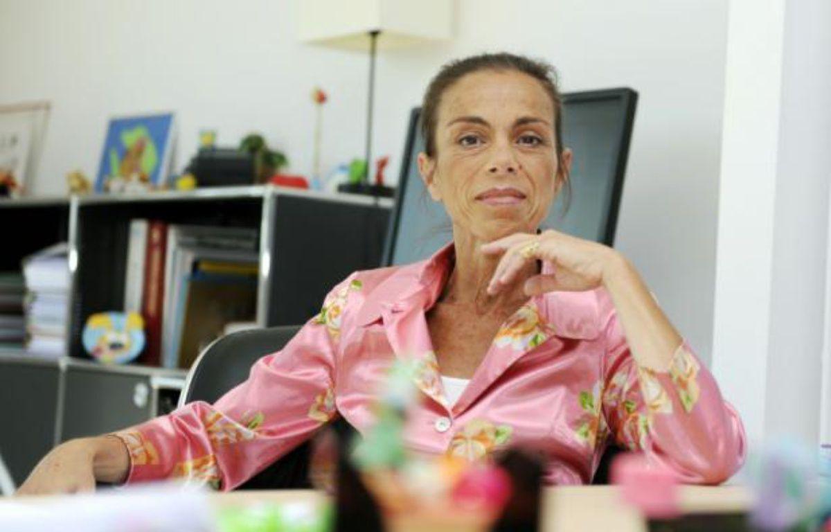 L'ancienne présidente de l'Institut national de l'audiovisuel (INA), Agnès Saal au siège de l'INA, le 31 juillet 2014 à Bry-sur-Marne, dans l'est de Paris – Dominique Faget AFP