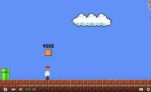 Capture d'écran de la parodie «Super Mario Bros.: Niveau réfugié».