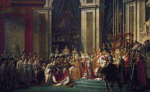 La célèbre toile de David, Le sacre de Napoléon.