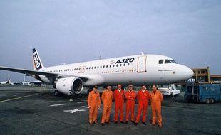 Le tout premier A320 sur le tarmac de Toulouse, le 22 février 1987