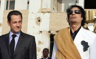 """Nicolas Sarkozy a qualifié jeudi soir d'""""infamie"""" et de """"fadaises"""" les accusations de l'ex-premier ministre libyen qui a affirmé que le régime de Mouammar Kadhafi avait financé sa campagne présidentielle de 2007"""
