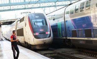 TGV Océane en gare Saint-Jean à Bordeaux le 11 juillet 2018.