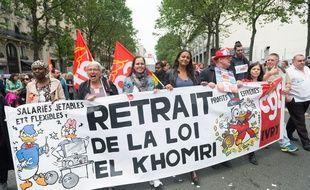 Des manifestants protestent contre le projet de loi Travail à Paris le 26 mai 2016.